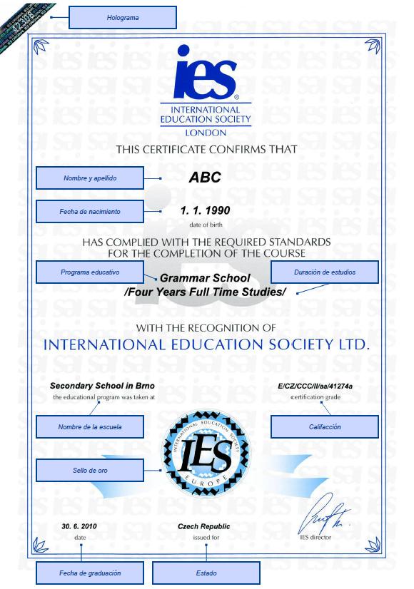 Certificado - International Education Society