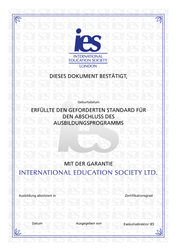 Certificate International Education Society
